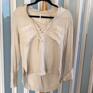 Free People Light beige top